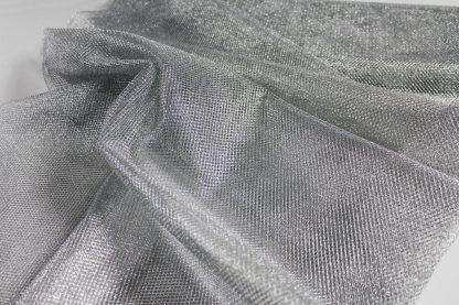 Netzstoff, Tüll grob, silber - 10-018-041