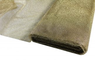 Netzstoff, Tüll grob, gold - 10-019-047
