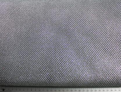Netzstoff, Tüll grob, silber - 10-019-041