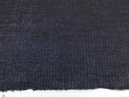 Elastischer Glanzstoff schwarz - 15-016-046