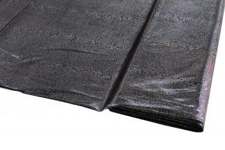 Glanzstoff metallic schwarz/silber - 17-002-241