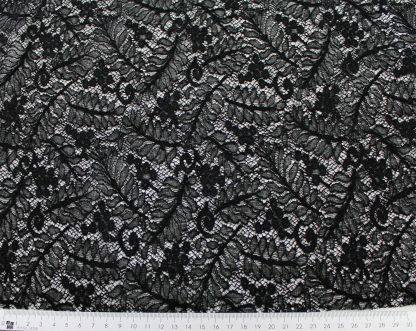 Hochwertige Spitze elastisch schwarz - 31-004-046