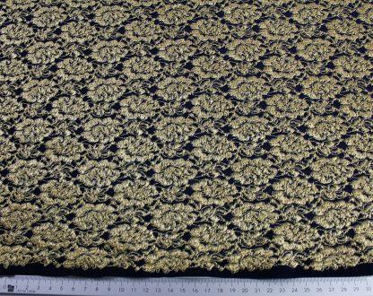Spitzenstoff elastisch gold/marine - 31-048-439