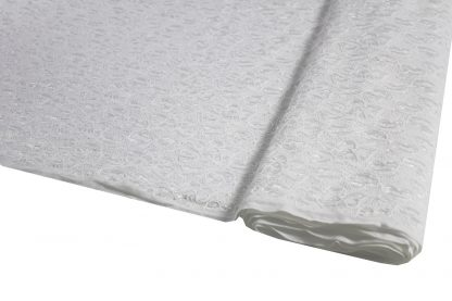 Spitzenstoff elastisch weiß - 31-053-001