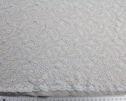 Spitzenstoff elastisch silber/grau - 32-001-543