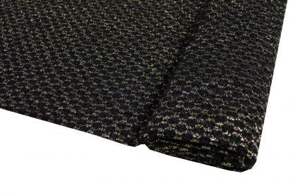 Spitzenstoff elastisch schwarz/gold - 32-002-247