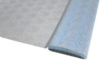 Spitzenstoff geblümt hellblau - 40-008-036