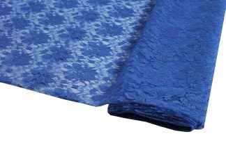 Spitzenstoff geblümt blau- 40-008-038