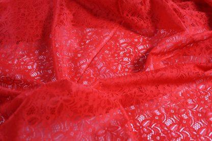 Spitzenstoff geblümt rot- 40-025-024