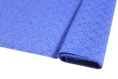Spitzenstoff geblümt blau 40-025-037
