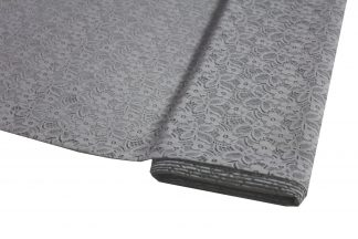 Spitzenstoff geblümt grau 40-025-043