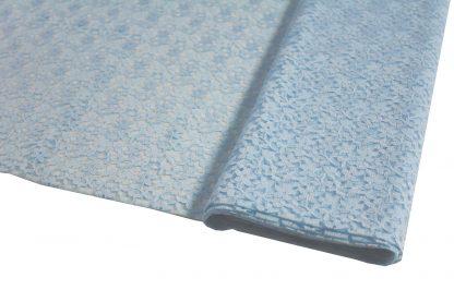 Spitzenstoff geblümt hellblau 40-040-036