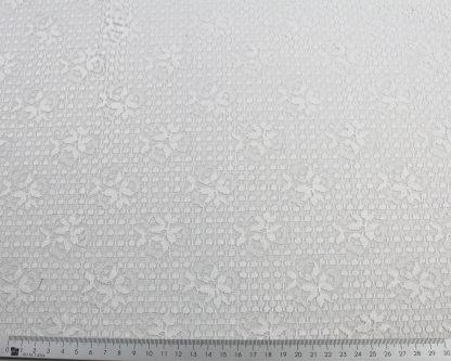 Spitzenstoff weiß - 40-042-001