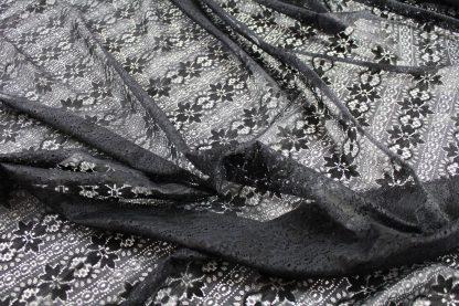 Spitzenstoff schwarz- 40-045-046