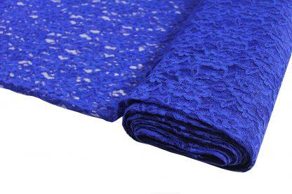 Spitzenstoff mit Bogenkante dunkelblau- 42-004-038