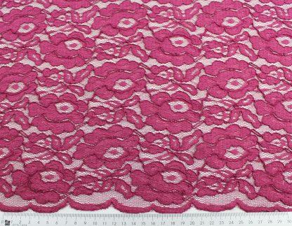 Spitzenstoff mit Bogenkante pink - 42-006-028