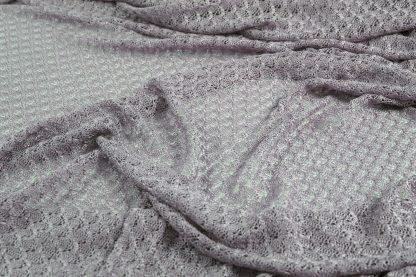 Extravaganter Netzstoff silber grau- 42-012-043