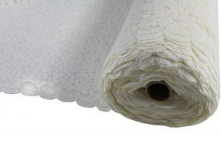 Spitzenstoff mit Bogenkante weiß - 42-013-001