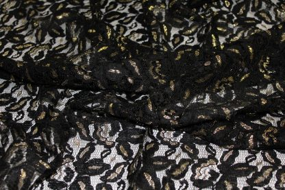 Spitze mit Gimpe und Lurex schwarz/gold - 43-008-247