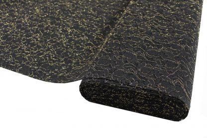Spitzenstoff mit goldenem Gimpefaden schwarz - 43-011-247