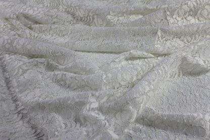 Spitzenstoff mit Gimpefaden weiß/silber - 43-011-341