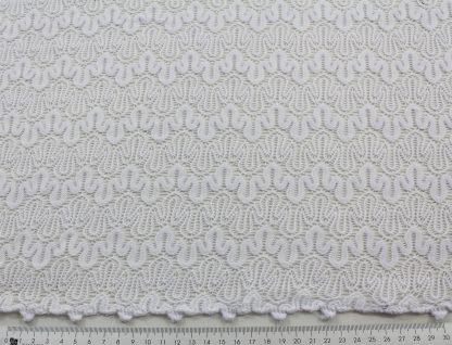 Aussergewöhnliche Netzstoffspitze weiß - 46-010-001