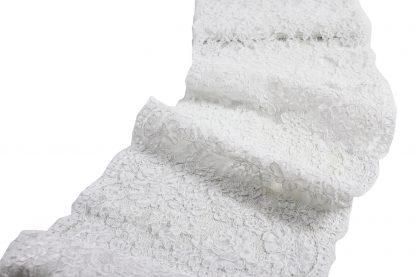 Hochwertiger Brautspitzen Galon weiß - 48-006-001