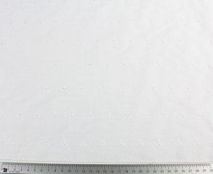 Batiststoff leicht bestickt weiß - 50-044-001