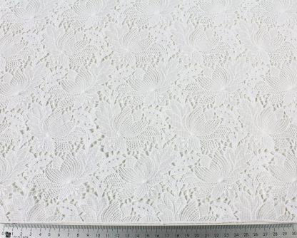 Hochwertige Spachtel Spitze weiß - 51-002-001