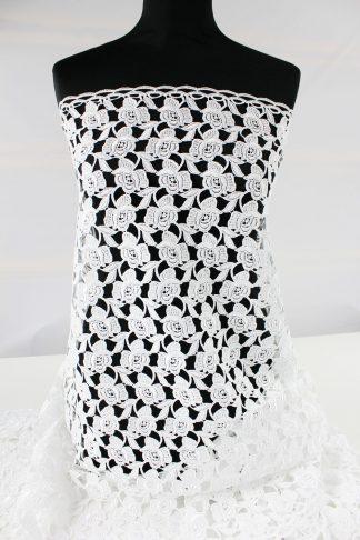 Wunderschöner Brautspitzengalon aus Spachtelspitze weiß - 51-017-001
