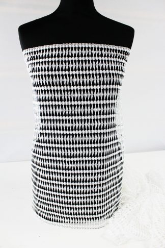 Besondere Spachtelspitze weiß 50cm breit - 51-026-001