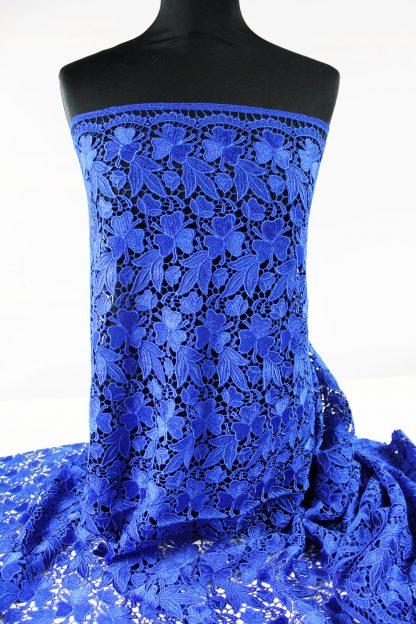Edler Spachtelspitzen Stoff dunkelblau - 51-101-038