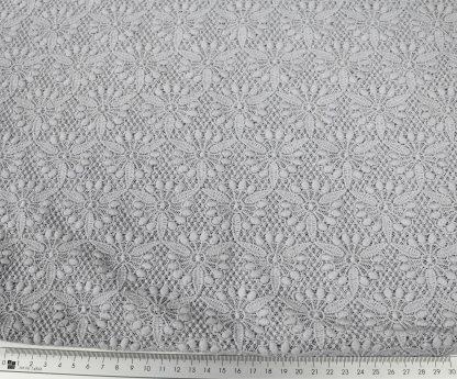 Hochwertige Baumwoll Tüllspitze grau - 52-025-043