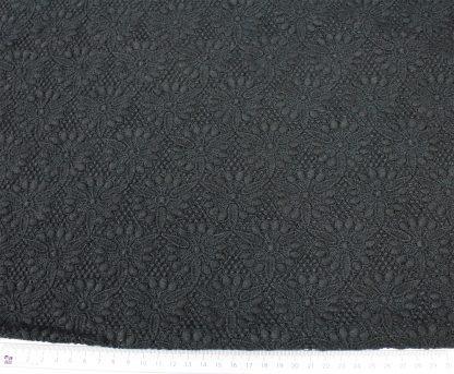 Hochwertige Baumwoll Tüllspitze schwarz - 52-025-046
