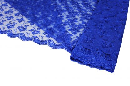 Tüllspitze allover blau - 53-008-037