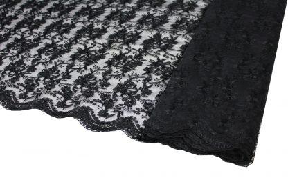 Traumhafte Tüllspitze schwarz - 53-019-046
