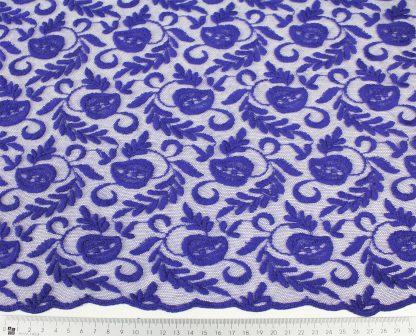 Seltene Wollstickerei auf Tüll lila - 53-037-022