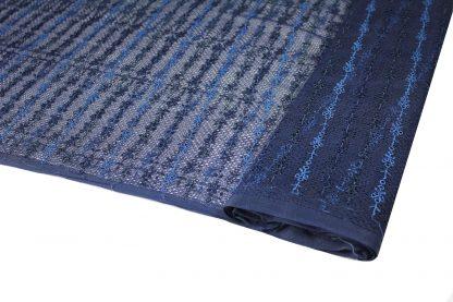 Stickerei auf Netzstoff blau - 54-003-037