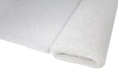 Designspitze Seidenorganza Stickerei weiß - 55-003-001