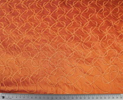 Hochwertig bestickte Seide orange - 61-002-019