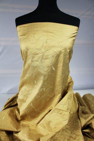 Edel bestickte Seide gold - 61-006-047