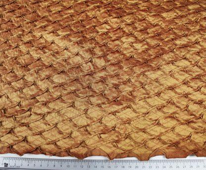 Extravagant bestickte Seide goldbraun - 61-021-032