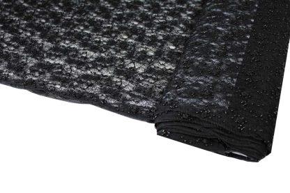 Exklusive Französische Spitze mit Bändchen und Perlen bestickt schwarz - 70-016-046
