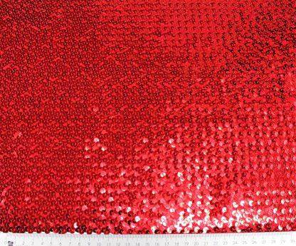 Elastischer Paillettenstoff rot - 76-002-024