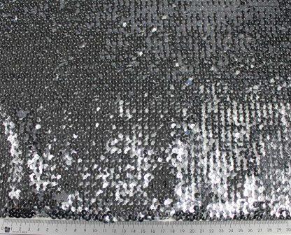 Elastischer Paillettenstoff silber - 76-002-041