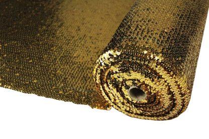 Elastischer Paillettenstoff gold - 76-002-047