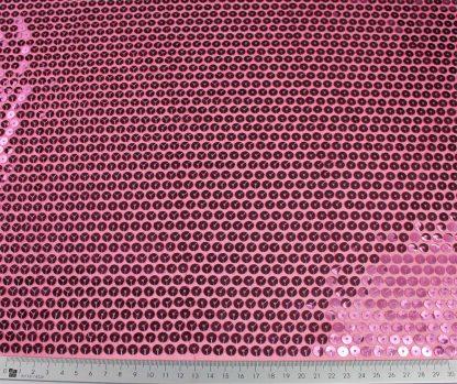 Schöner Stoff mit Pailletten bestickt pink - 76-016-022
