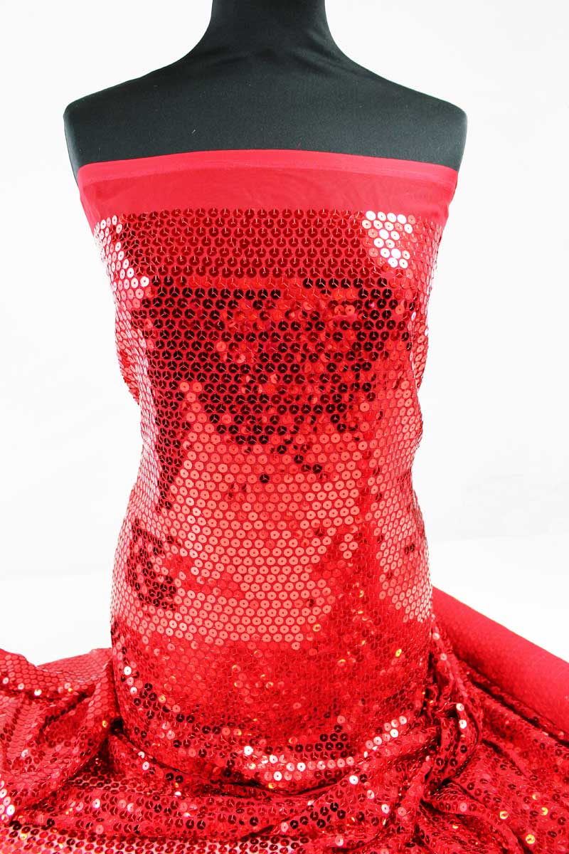 stoffe & materialien bestickter tüll stickerei in rot