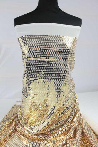 Schöner Stoff mit Pailletten bestickt gold - 76-016-047