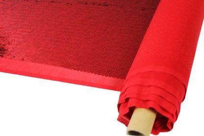 Hochwertige Paillettenstickerei auf Stoff - Paillettenstoff - rot- 76-017-024